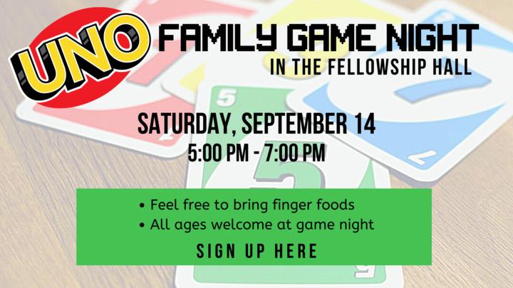UNO Family Game Night logo image