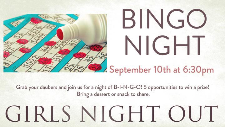 Girls Night Out - BINGO logo image