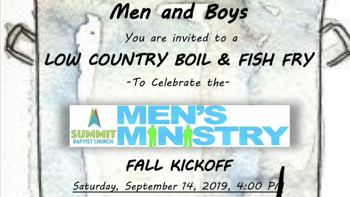 Men's Ministry Low Country Boil & Fish Fry logo image