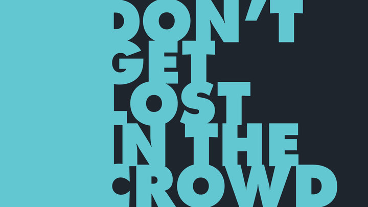 Don't Get Lost in the Crowd logo image