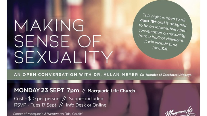 Making Sense of Sexuality - an open conversation with Dr Allan Meyer logo image