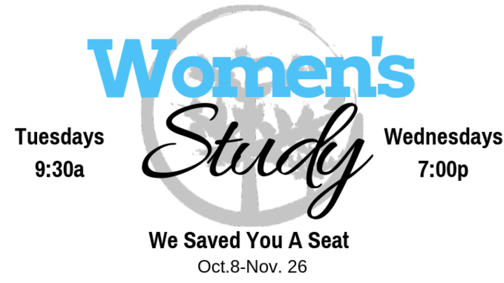 Women's Bible Study- We Saved You A Seat logo image