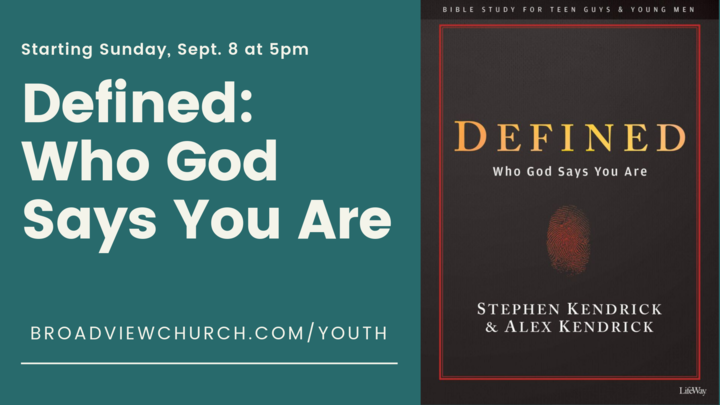 Defined: Who God Says You Are logo image