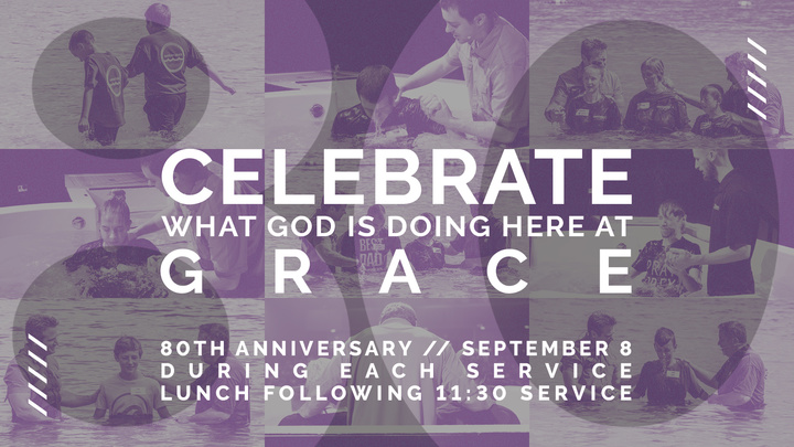 Celebrate Grace/80th Anniversary logo image