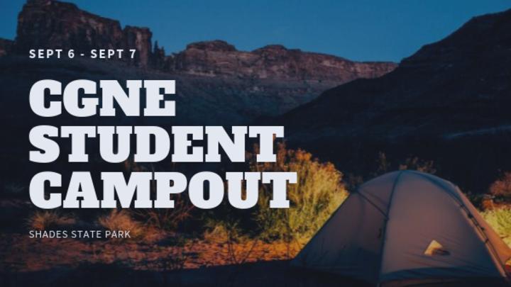 CGNE Student Campout!!! logo image