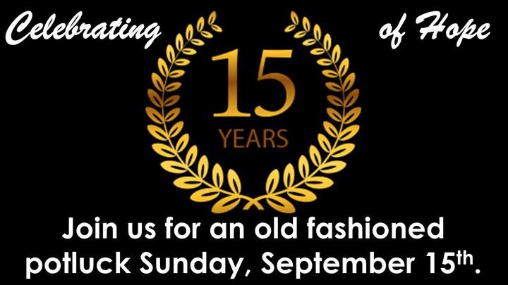 Hope's 15th Anniversary celebration! logo image
