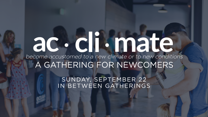 Acclimate: A Gathering for Newcomers // September 2019 logo image