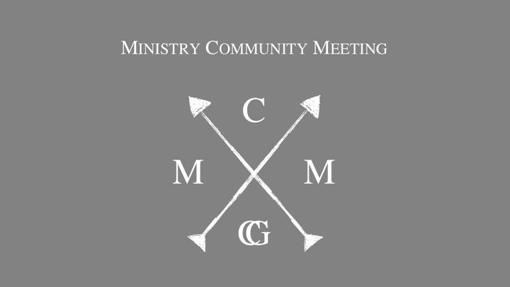 November -  Ministry Community Meeting (MCM)  logo image