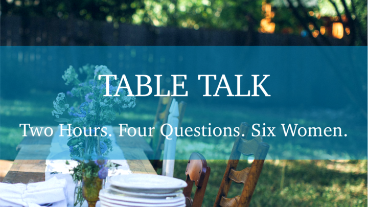 "Women's Ministry ""Table Talk"" logo image"