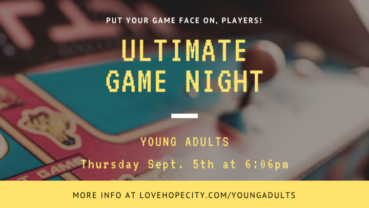 Young Adults Game Night logo image