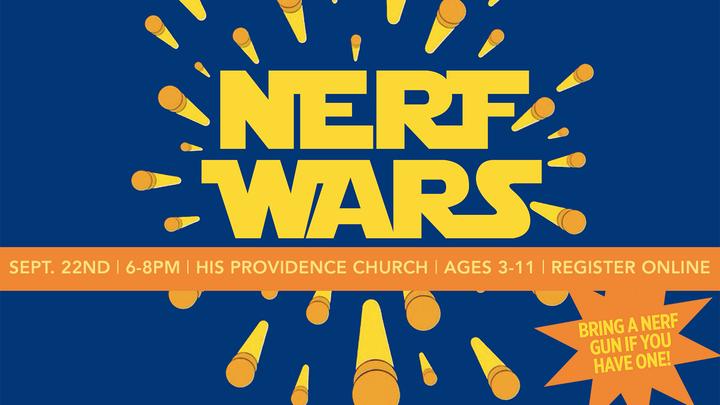 His Kids Nerf Wars logo image