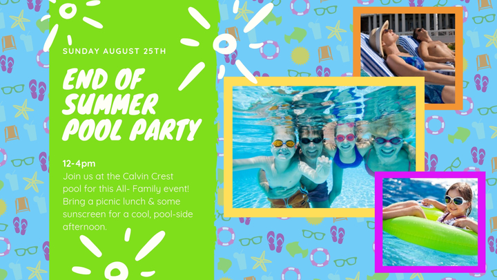 End of Summer Pool Party @Calvin Crest logo image