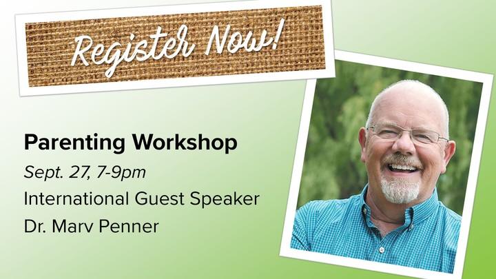 Parenting Workshop with Dr. Marv Penner logo image