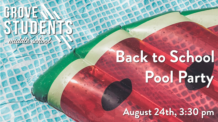 Middle School Back to School Pool Party logo image