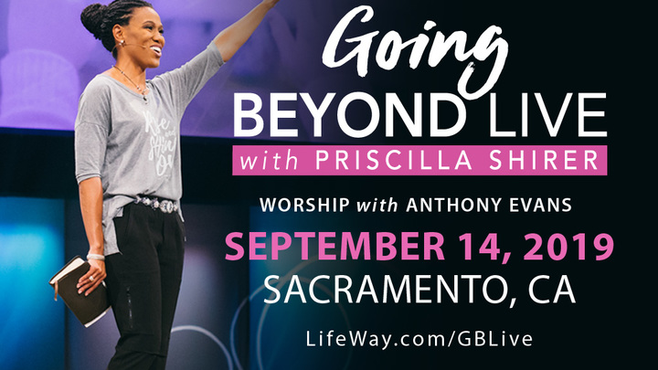 """""""Going Beyond Live"""" with Priscilla Shirer logo image"""