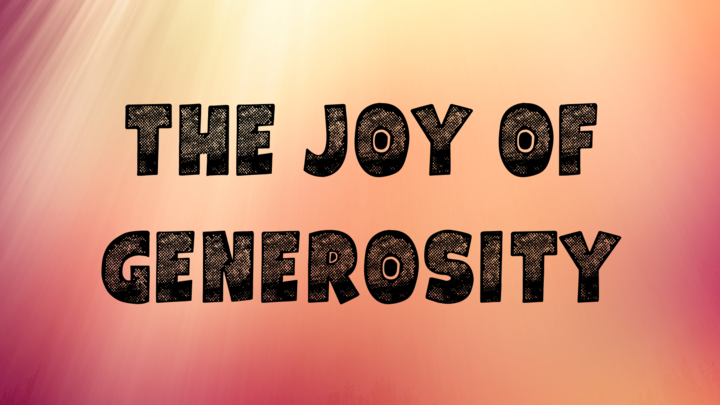 Connect Group with Kevin & Janelle Lloyd - The Joy of Generosity logo image