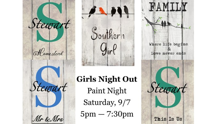 Girls Night Out Paint Night logo image