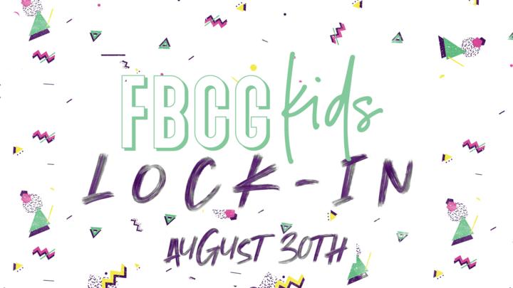 FBCG Kids Lock-In logo image