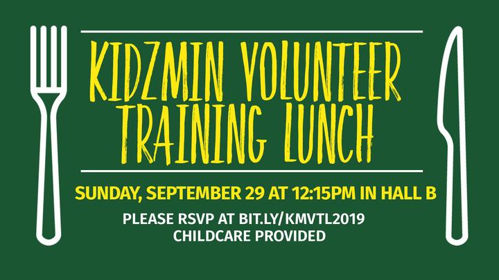 KidzMin Volunteer Training Lunch logo image
