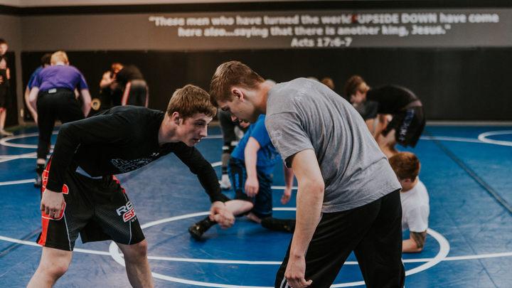Wrestling: High School Preseason Training (Fall 2019) logo image