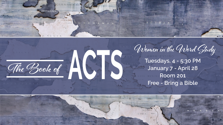 Women's Tuesday Afternoon Bible Study: The Book of Acts logo image
