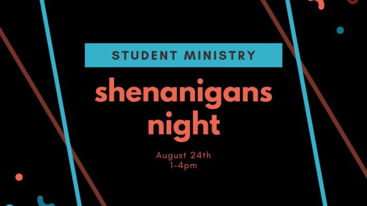 Student Ministry: Shenanigans Night logo image