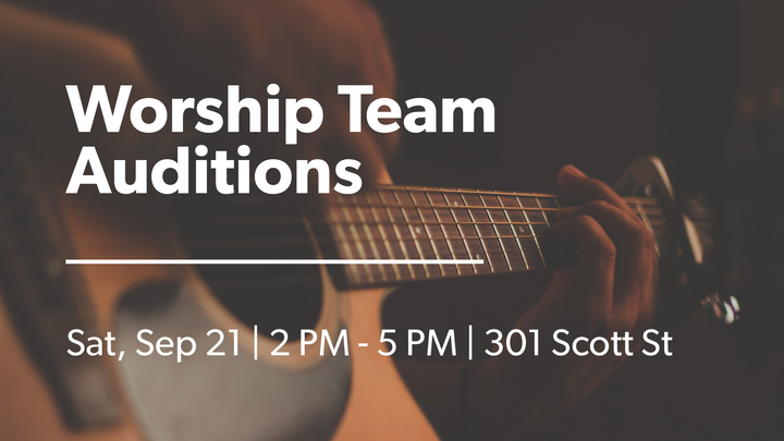 Worship Team Auditions logo image