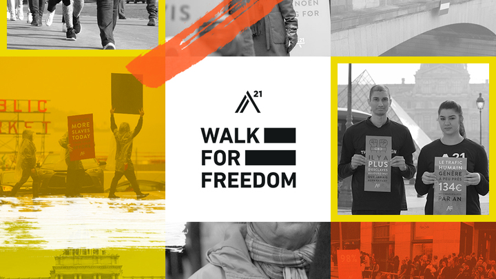 A21  | #WalkForFreedom (Oct. 19) logo image