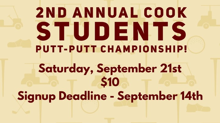 Cook Student Ministry 2nd Annual Putt-Putt Championship logo image