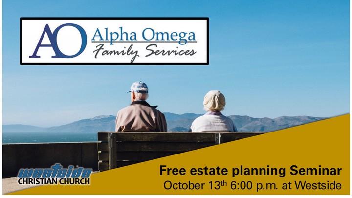 Alpha Omega Estate Planning Seminar logo image