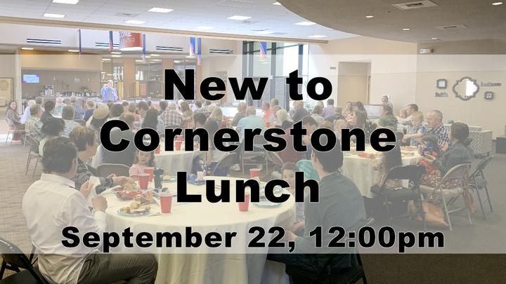New to Cornerstone Lunch  logo image