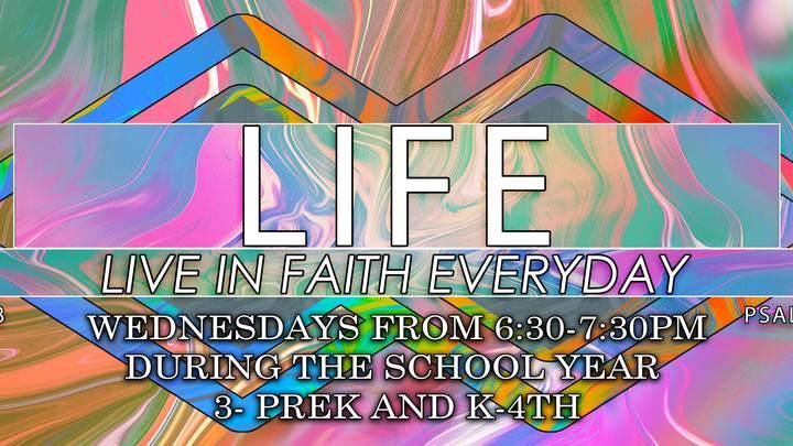 LIFE Children's Ministry 19-20 logo image