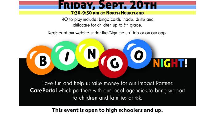 Bingo Night Fundraiser for Care Portal logo image
