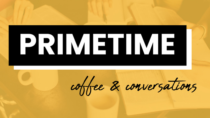 PRIMETIME (Ages 50+) Coffee and Conversations logo image