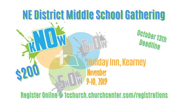 NE District Middle School Youth Gathering logo image