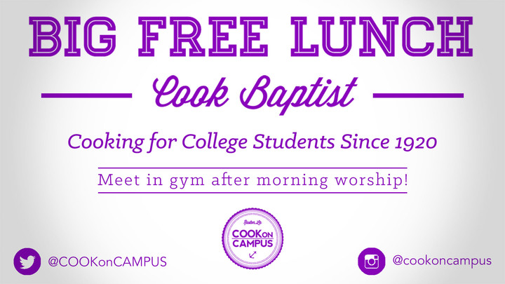 Big FREE Lunch! for College Students logo image