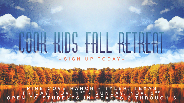 Cook Kids Fall Retreat 2019 logo image