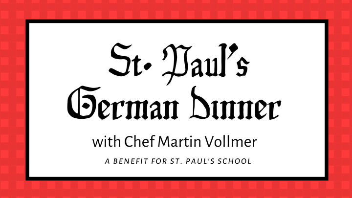 St. Paul's German Dinner with Chef Martin Vollmer logo image