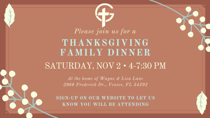 GCBC Thanksgiving Family Dinner logo image