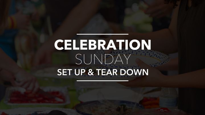 Celebration Sunday - Set Up and Tear Down logo image