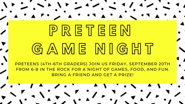 Preteen Friday Night Fun - Game Night logo image