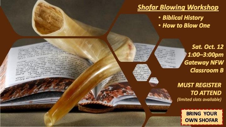 NFW | Equip: Shofar Blowing Workshop | 2019: 10/12 logo image