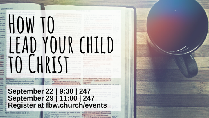 How to lead your child to Christ logo image