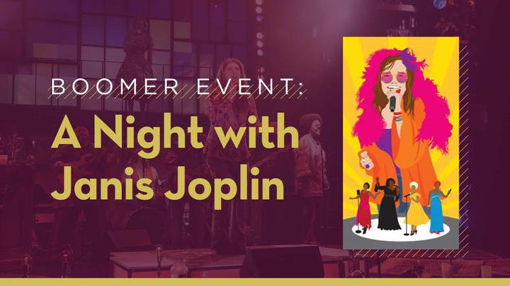 Boomer Event: A Night with Janis Joplin - Zach Theater logo image