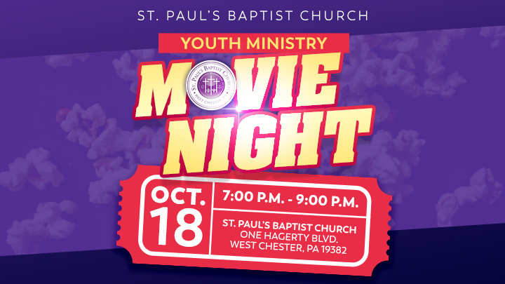 Youth Ministry Movie Night logo image