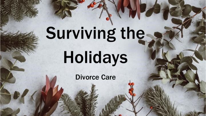 SURVIVING THE HOLIDAYS, DIVORCE CARE logo image