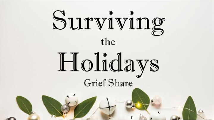 SURVIVING THE HOLIDAYS, GRIEF SHARE logo image