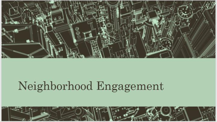 Neighborhood Engagement Info and Brainstorming Meeting  logo image