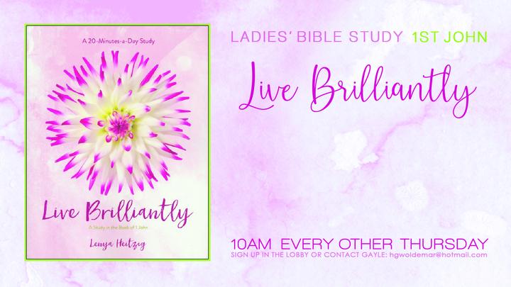 Ladies Bible Study (1 John) Live Brilliantly logo image