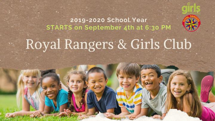 2019-2020 Royal Ranger & Girls Club (K - 8th grade) - Wednesday 6:30-7:30PM logo image